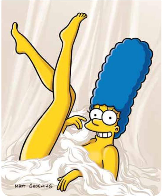 F L Marge Simpson Nua Na Capa Da Playboy