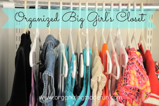 Organizing a big girl's closet :: OrganizingMadeFun.com