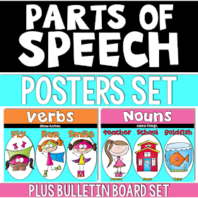 Parts of Speech Posters and Bulletin Board Set