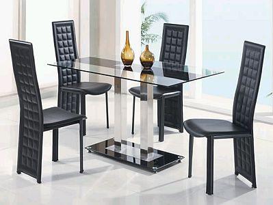 Muebles modernos de comedor de color negro for Muebles y comedores modernos