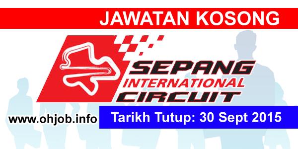 Jawatan Kerja Kosong Sepang International Circuit (SIC) logo www.ohjob.info september 2015