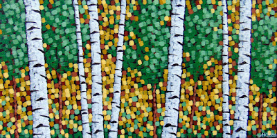 Approaching Autumn, acrylic on canvas by artist aaron kloss at sivertson gallery