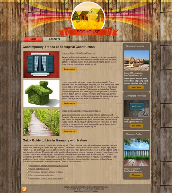 Eco House - Free Drupal Theme