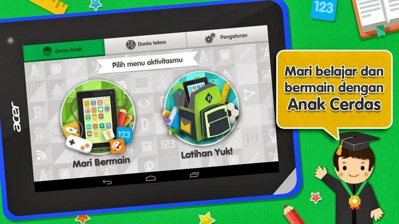 Aplikasi Anak Cerdas Acer