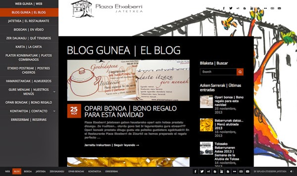 Blog gune berria | Nuevo Blog del Restaurante Plaza Etxeberri