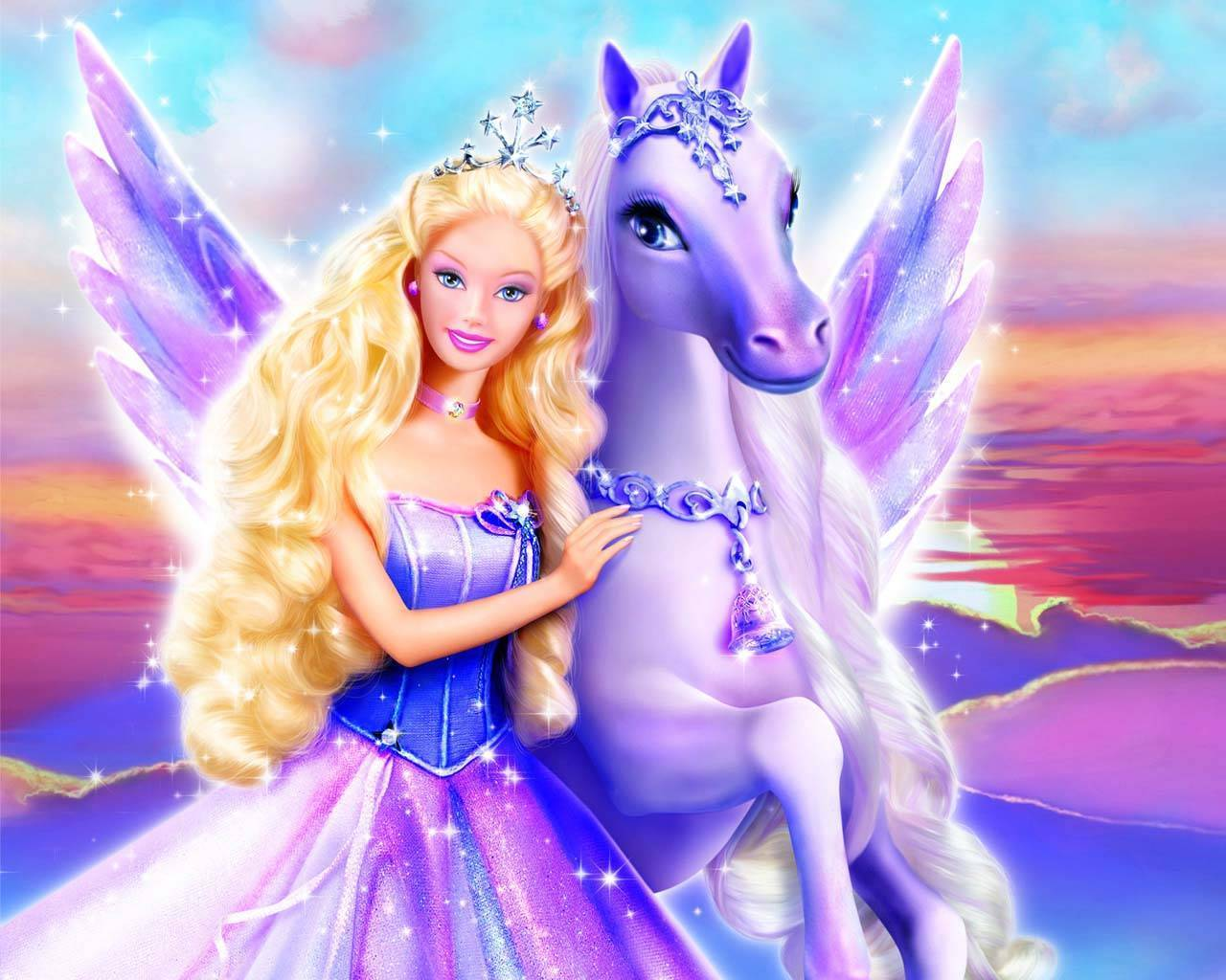 Pegasus and barbie princess wallpaper princess wallpaper backgrounds pegasus and barbie princess wallpaper voltagebd Images