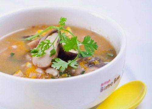 Vietnamese Recipes Vegetarian - Canh bí đỏ nấm rơm