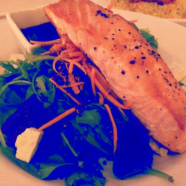 Salmon Fillet with Beetroot and Quinoa Salad