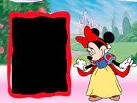 Moldura Minnie quadro vermelho