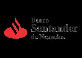 Banco Santander de negocios Logo Vector
