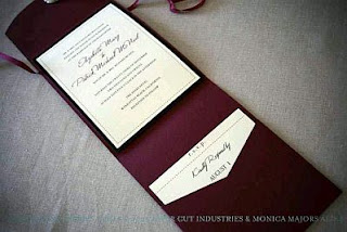 Purple Wedding Invitations Cards