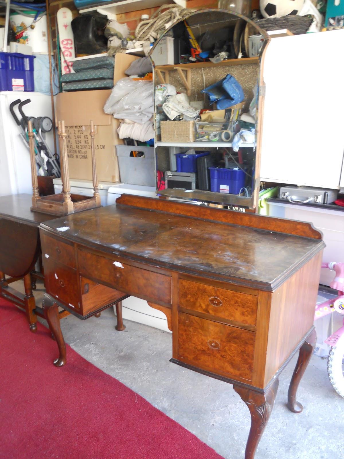 Our Vintage Finds 1920 S Walnut Veneer Dressing Table