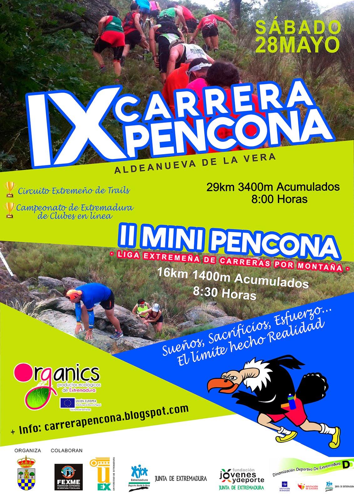 IX CARRERA PENCONA Sábado 28 Mayo 8:00
