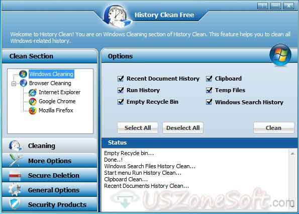 how to clear history on windows 7
