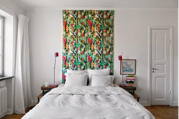 si ests de alquiler o para darle un cambio de imagen rpido y sencillo a una habitacin y es que solo hace falta un trozo de tela y cabecero listo - Cabeceros De Tela