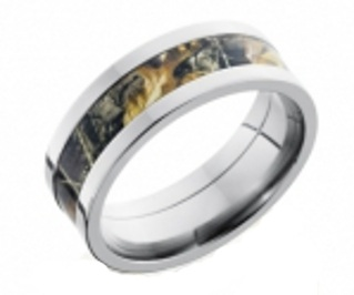 camo men's wedding band