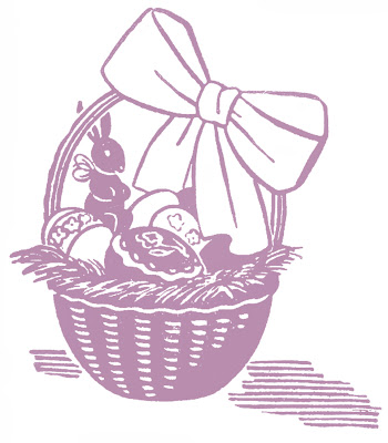 Stock Images Retro Easter Baskets