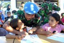 Cheerful Children Lebanon Indonesia Joint Army