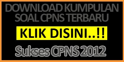 COntoh soal CPNS 2012 