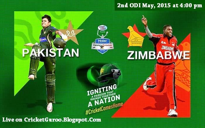 Pakistan vs Zimbabwe 2nd ODI Live Streaming