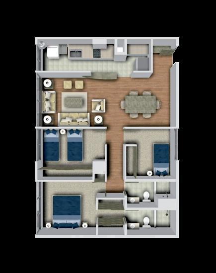 Baño Principal Medidas: : Plano arquitectónico con recámara principal con vestidor y baño