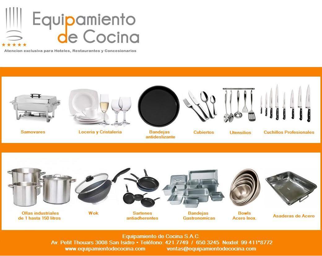 Equipamiento de cocina for Menaje de cocina para restaurante