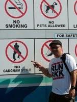 no gangnam style signage