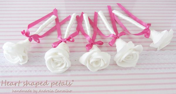 Fabric roses for weddings