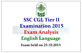SSC CGL Tier II 2015 Exam English Question Paper