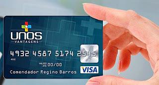 cartão Unos vantagens