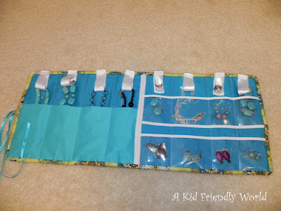A kid friendly world travel jewelry holder tutorial for Diy travel earring holder
