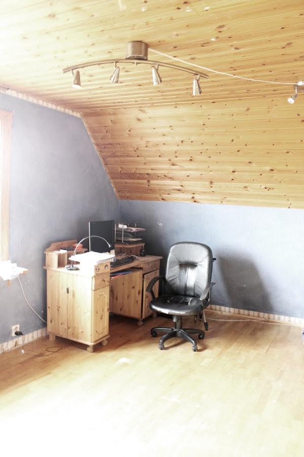 bilder på före och efter renovering, renovering arbetsrummet, förebilder, efterbilder,