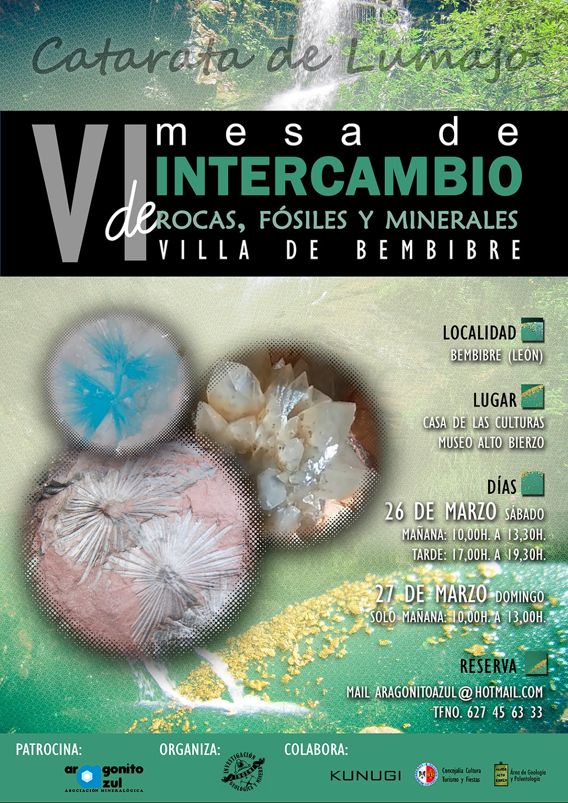 """VI MESA DE INTERCAMBIO DE ROCAS, FÓSILES Y MINERALES """"VILLA DE BEMBIBRE 2016"""""""