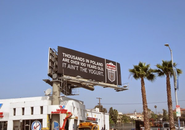 Sobieski Vodka It ain't the yogurt billboard