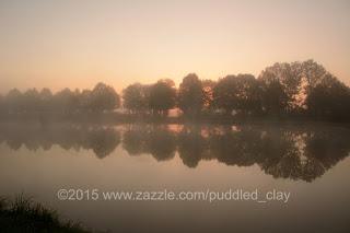 Canal du Nivernais sunrise near Sauzay