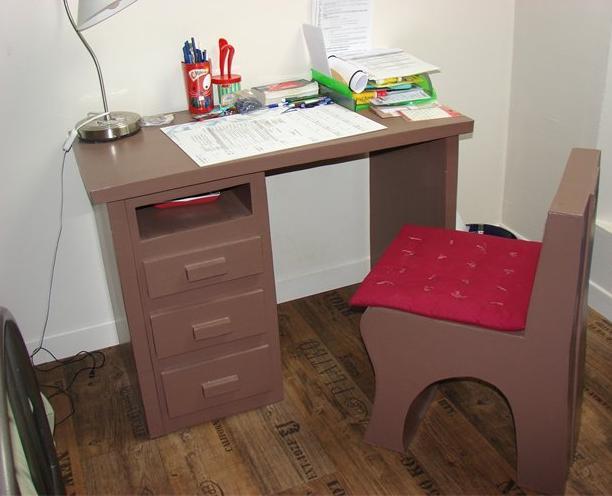 Et si on lui faisait une chambre en carton dans la for Bureau en carton