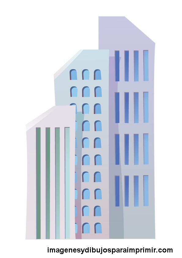 dibujos de edificios para imprimir