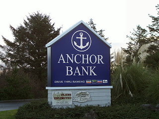 Sign outside Anchor Bank
