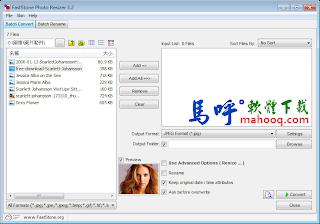 FastStone Photo Resizer Portable 免安裝綠色版下載,好用的照片轉檔程式,支援批次轉檔處理、批次縮圖、重新命名