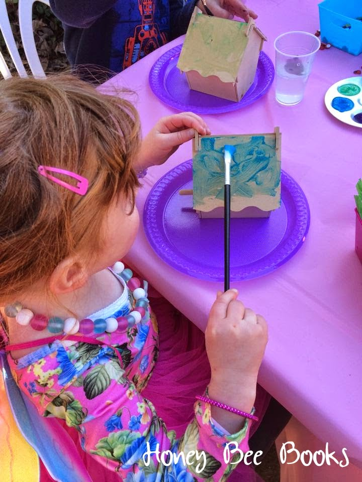 decorating the fairy houses