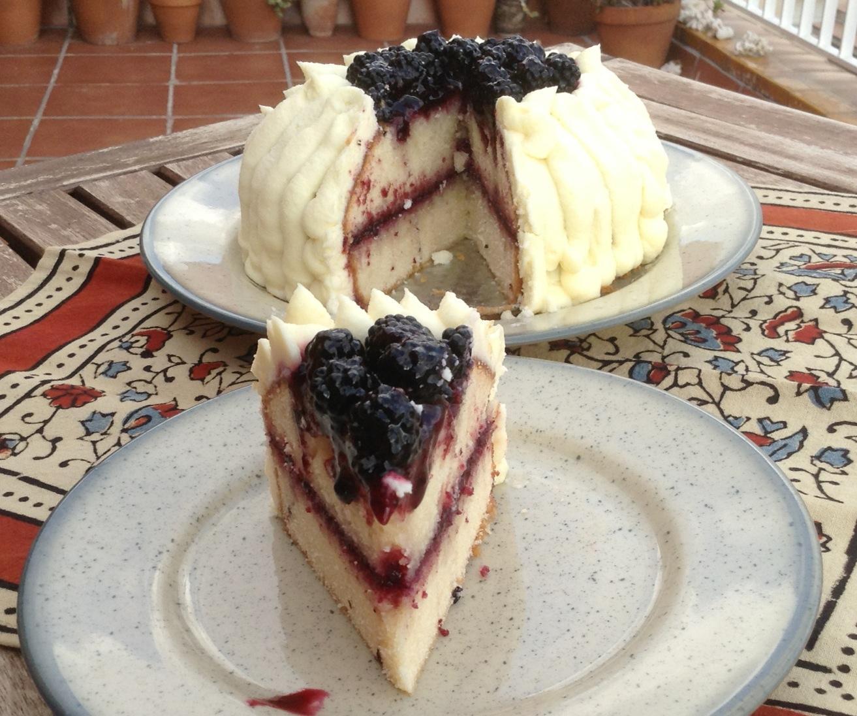 Tarta de moras y mascarpone