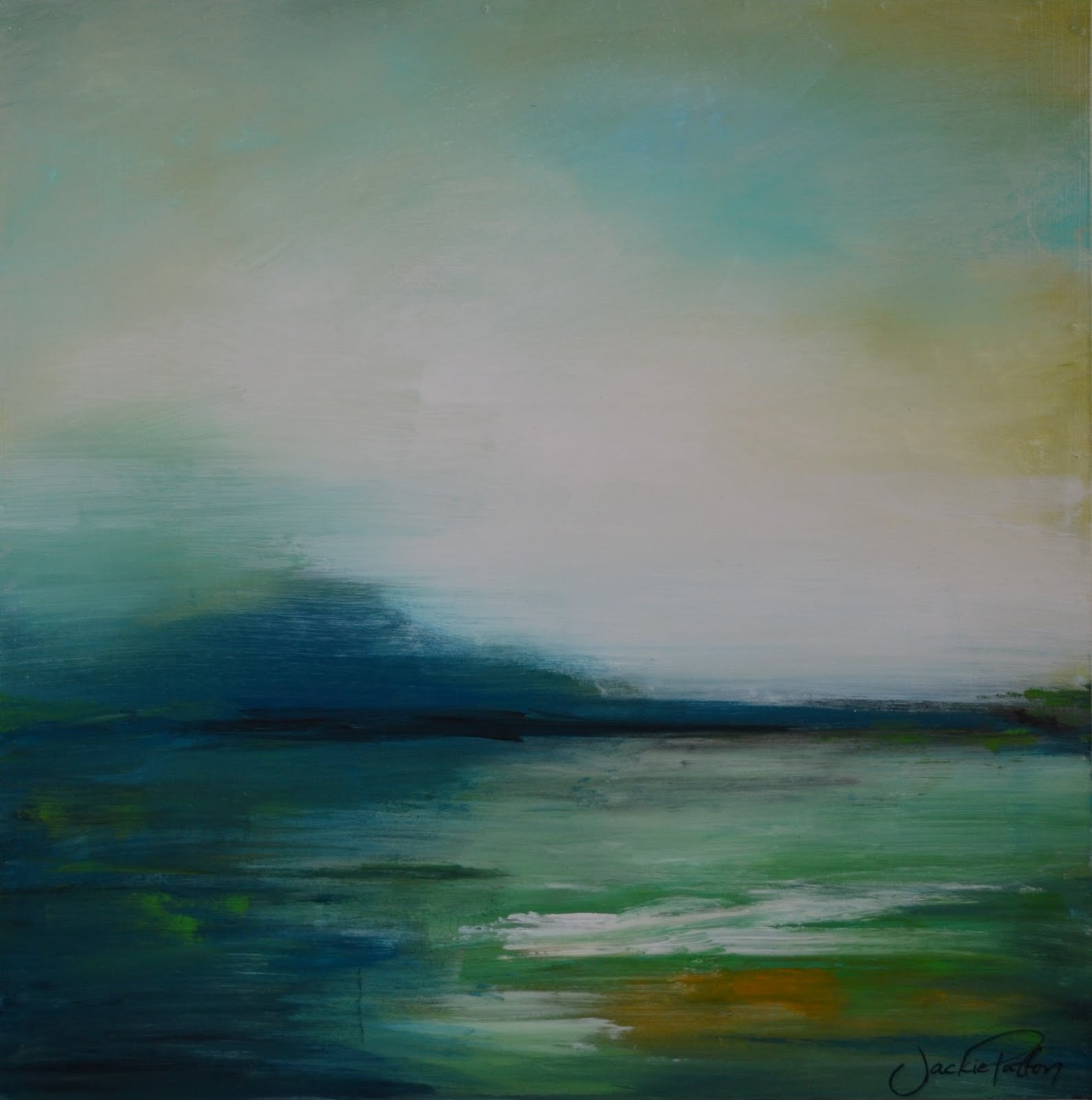 Abstract Landscape Paintings : The Art Girl Jackie: 5 Days of Art - Part 3, 4 & 5: Painting, Painting ...