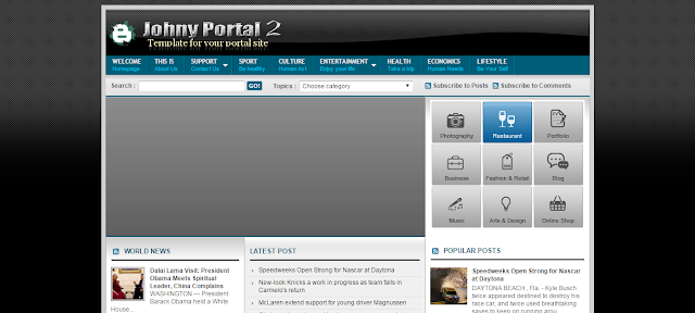 Johny Portal 2 Blogger Template