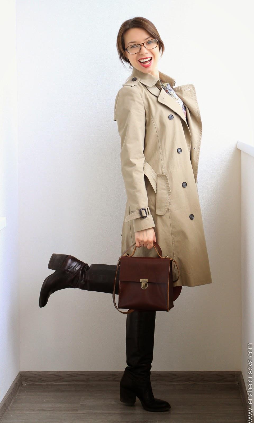 женский портфель из натуральной кожи