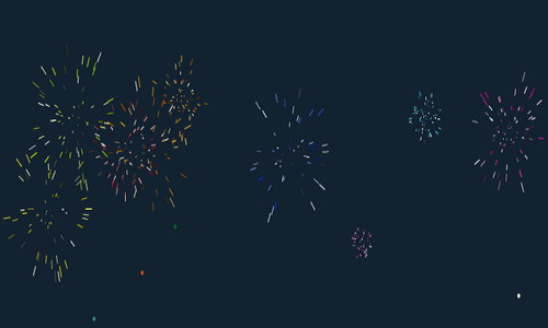 animated fireworks effect widget for blogger