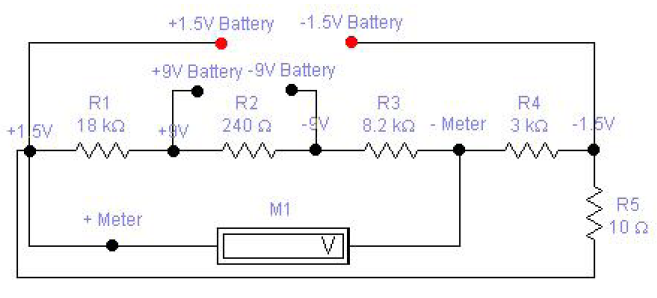 battery tester for 1 5 and 9 v basic electronics project basic