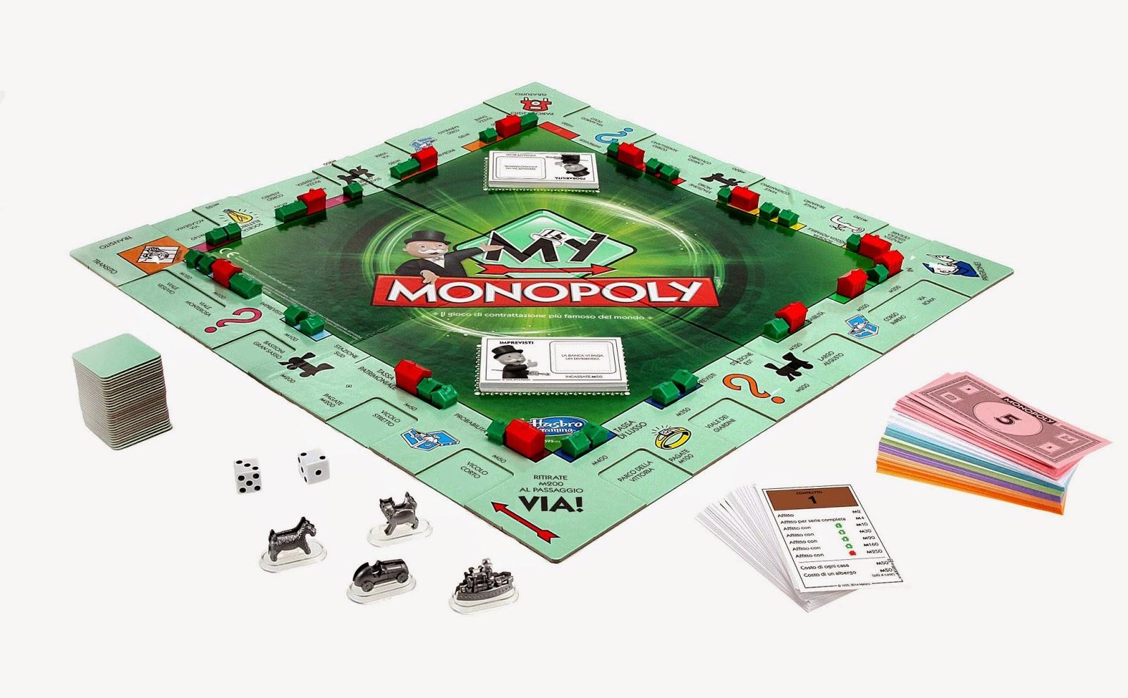 Gioco da tavolo my monopoly nuovo Hasbro Natale 2014 costo al pubblico