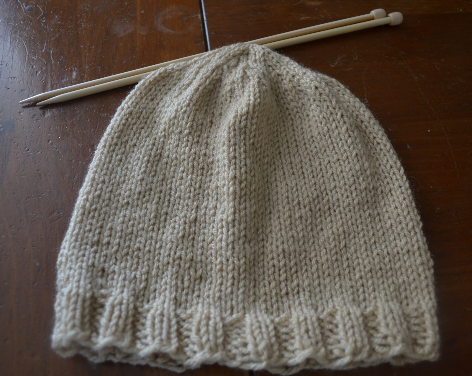 Simple Knit Hat Pattern Free : Chronicles of a Knaptime Knitter: FREE KNITTING PATTERN-Basic Mens Beanie