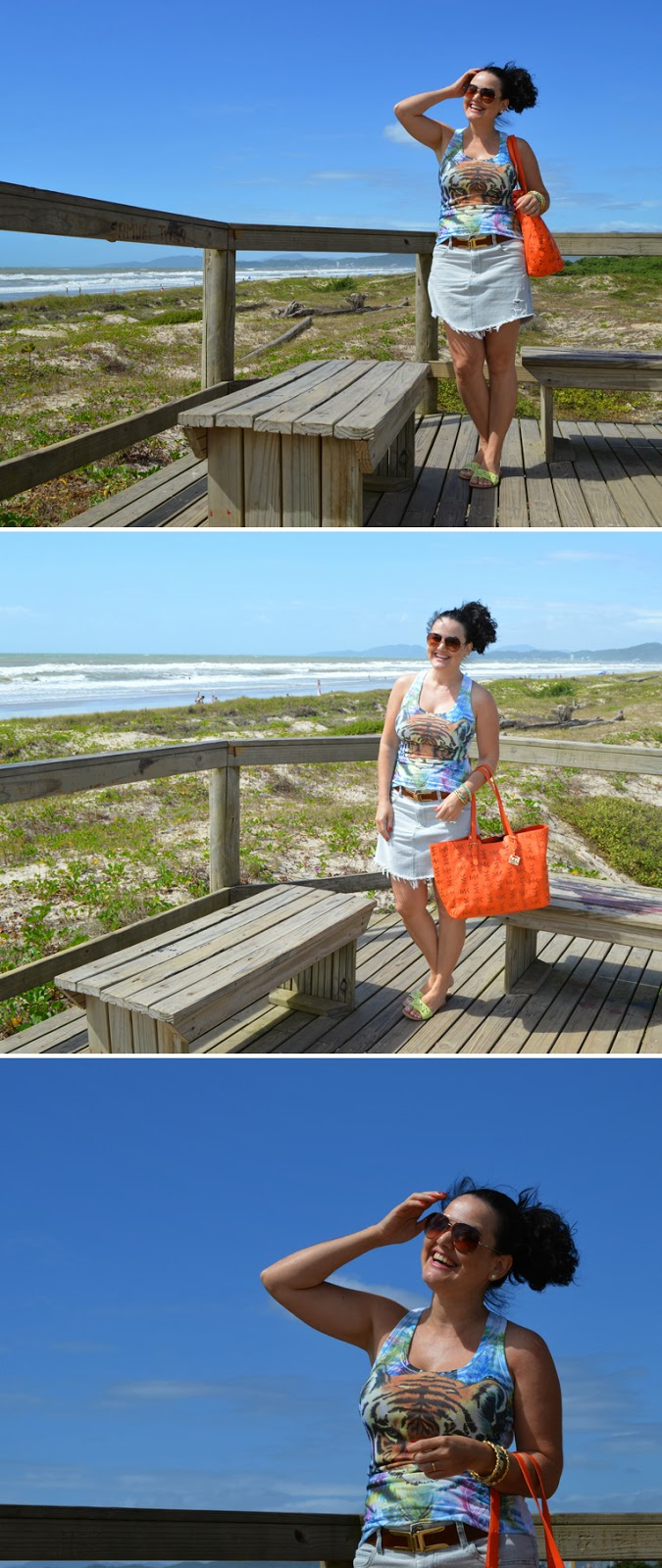 Look, saia jeans, customização, sol, mar ,praia, verão, makenji, dakota, janaa cessórios, moda, estilo, style, blogger, blogueira, joinville, brasil, Look da Jana