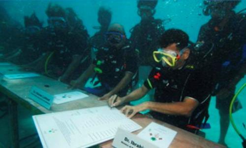 Noticias ambientales internacionales maldivas for Islas maldivas hoteles en el agua